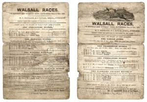 A racecard for the 1852 meeting.