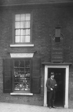The shop c.1930 with Frank Richardson posing for the camera.