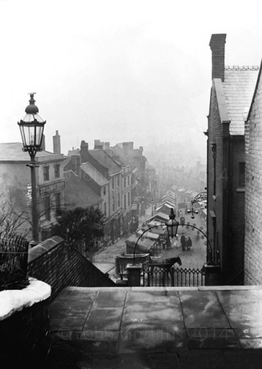 Looking down High Street from St. Matthew's steps c.1905