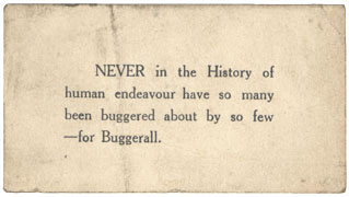 Bugger card