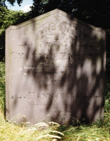 The gravestone of Charles and Hannah Emery, St. Michaels, Lichfield