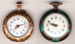 Emma's two watches, the gold one being used for Sundays only.