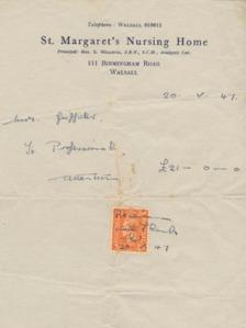 St Marg's bill