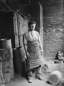 Arthur Farrington's portrait of an unknown worker in the annealing shop at Eylands, c.1905.