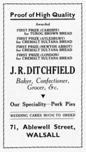 An advertiesement for the bakery from the 1960s.