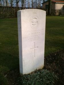 Edward's grave in Milan War Cemetery.