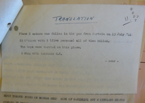 A translation of the Italian document giving brief details, some of them wrong!