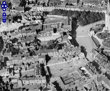 Church Hill area with Gorton's Yard and similar slums in 1926.