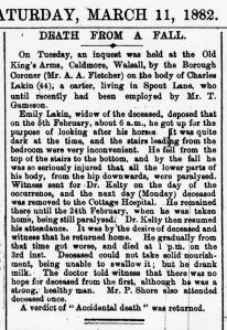 Inquest report 1882