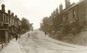 Vicarage Street c.1913, now known as Caldmore Road.