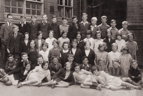 This photograph has been dated 1930 by my late mother and she should know as she is on it. Some of these pupils almost seem old friends to me as their names were frequently mentioned on a daily basis by my mother as I grew up.