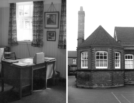 Left, Mr. Bolton's office and on the right the staff room in the boys side of the school.
