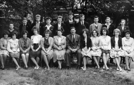 The Prefects 1961-62:- Back row, l-r, Colin O'Neill, yours truly, Vic Manley, Graham Worrall, Keith Turton, Graham Crook, Ken Tittley, Ken (or was it it Mick?) Robinson, David Clifft and Ron Smith. Seated, l-r, Maureen Ballinger, Diane Fellows, Joan Middleton, Maureen Harvey, Elaine Bond, Miss Prentice (Headmistress) Mr. Davies (Deputy Head), Susan Brittle, Margaret Ballinger, Dorothy Whitehouse, Margaret Phillips and Margaret Lester. Where did all this lot go? Haven't seen any of them in the 53 years since leaving!