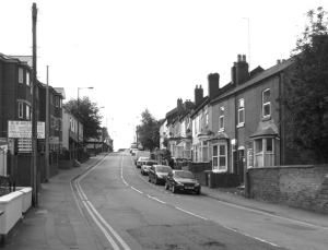 The same scene in September 2011 but now known as Caldmore Road.