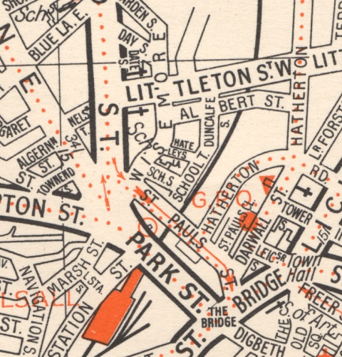 A 1950s map of the same area as the Aulton map but some seventy-years later.