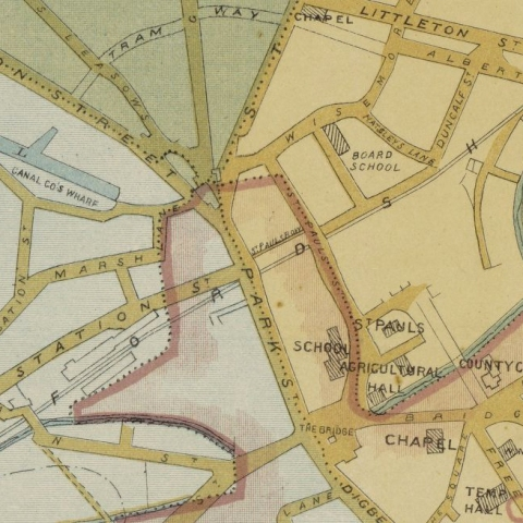 Aulton's map of Walsall