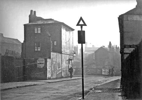 Wisemore with St. Paul's Street off to the left, c.1937.