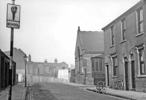The Wisemore Schools building, c.1937.