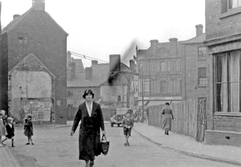 The Wisemore looking back towards Stafford Street, c.1937.