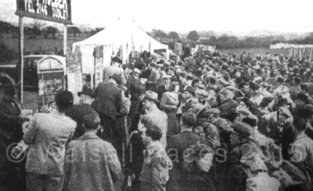 The crowds around the boomakers stands on Easter Monday 1946.