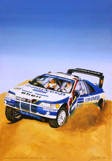 Peugeot rally car