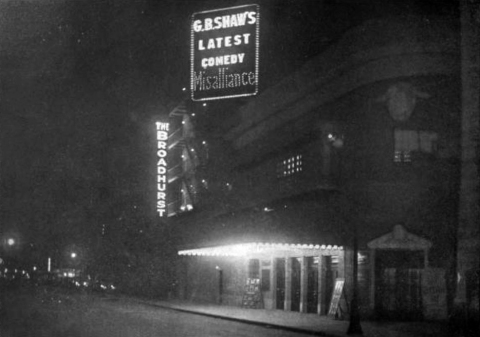 Broadhurst Theatre 1917